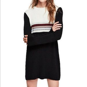 Free People Color Block Striped Sweater Dress L